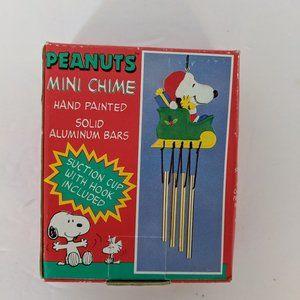 Vintage Peanuts Mini Chime Christmas Snoopy Sled